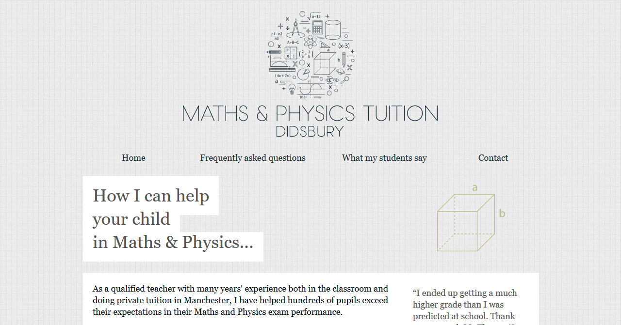 Maths & Physics Tuition